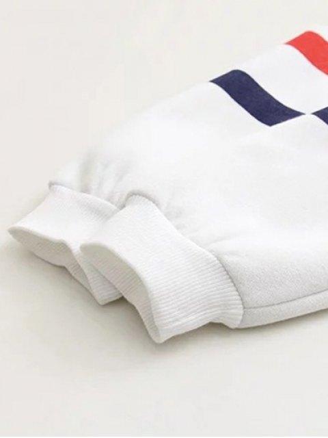women's Plus Size Printed Sweatshirt - WHITE 2XL Mobile