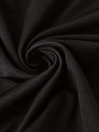 Lace-Up A-Line Dress - BLACK S Mobile