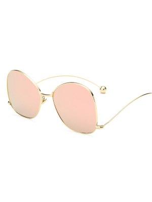 Small Ball Wave Leg Irregular Mirrored Sunglasses - Shallow Pink