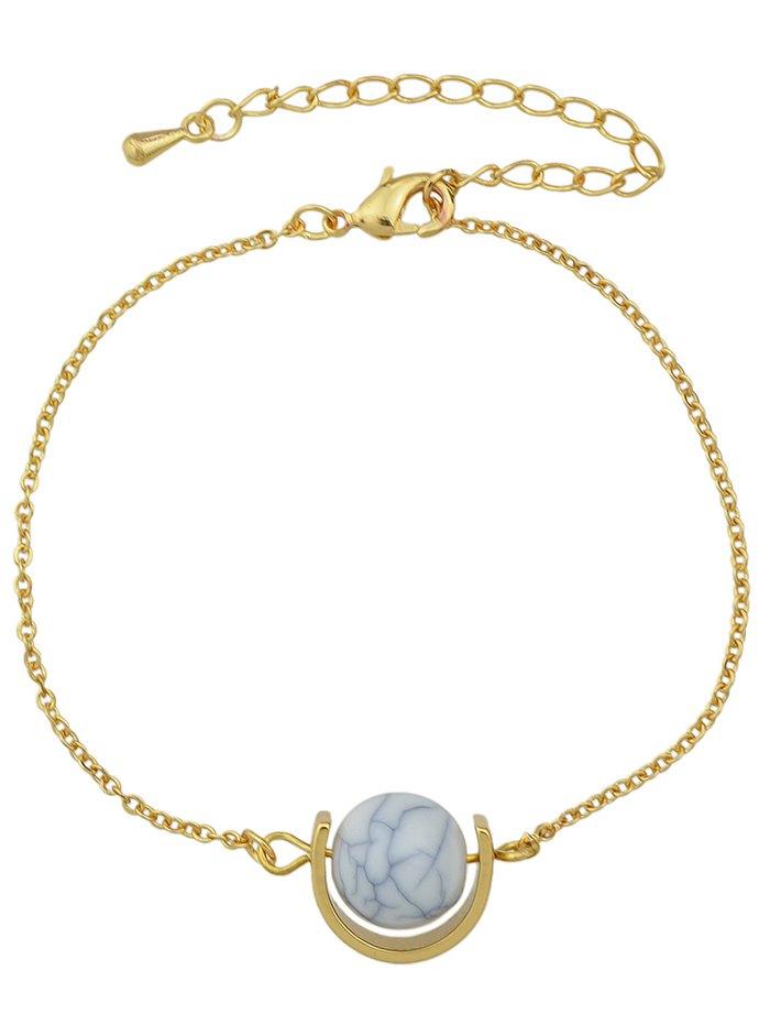Faux Turquoise Horseshoe Bracelet
