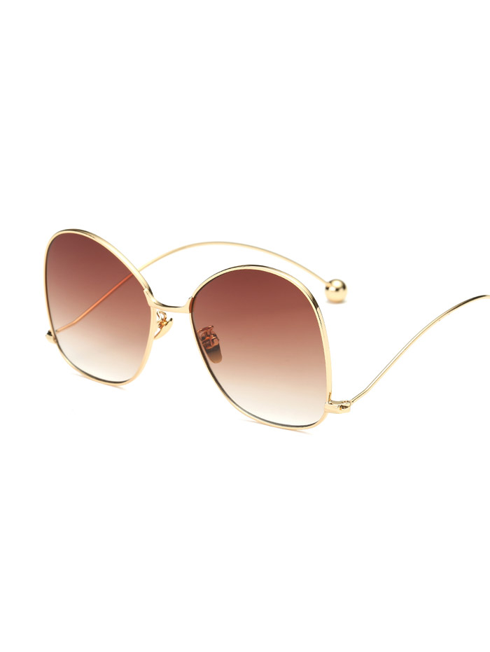 Wave Leg Irregular Sunglasses