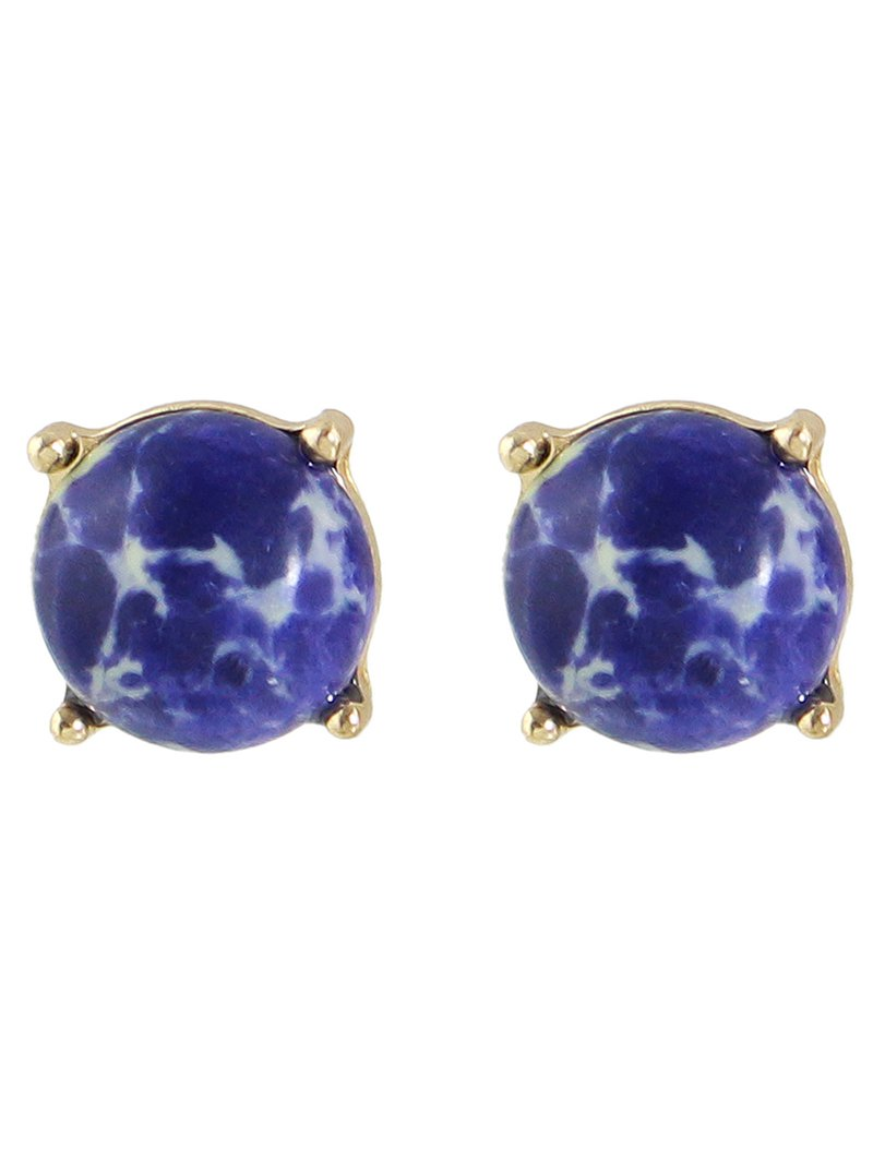 Faux Stone Stud Earrings