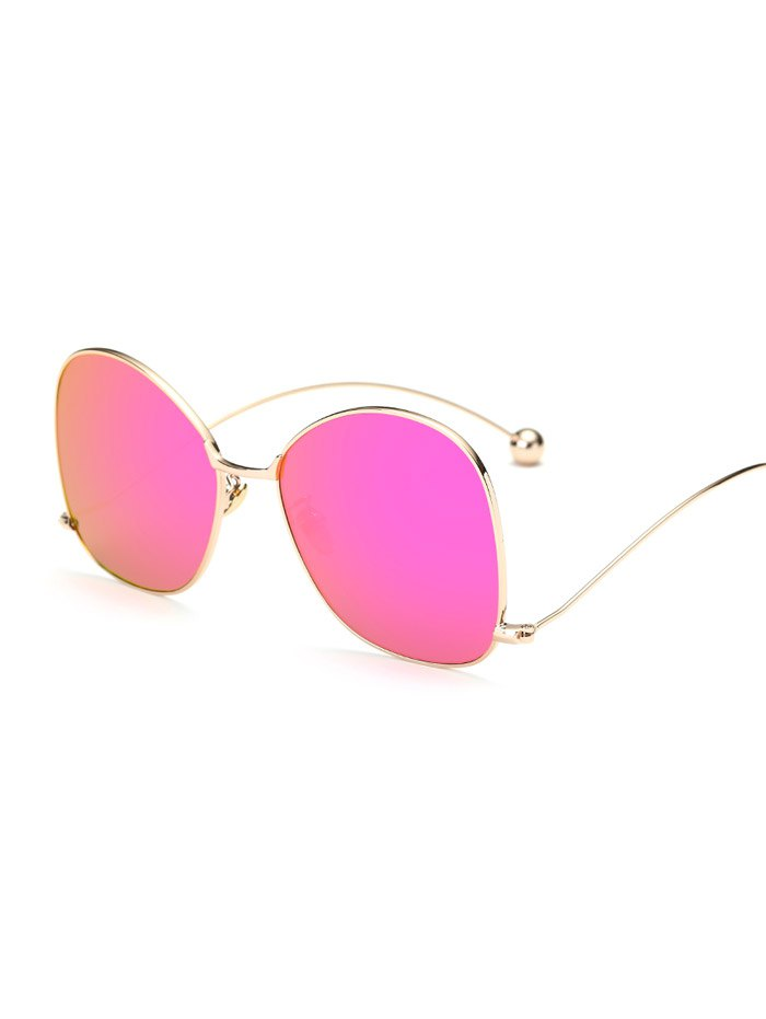 Wave Leg Irregular Mirrored Sunglasses