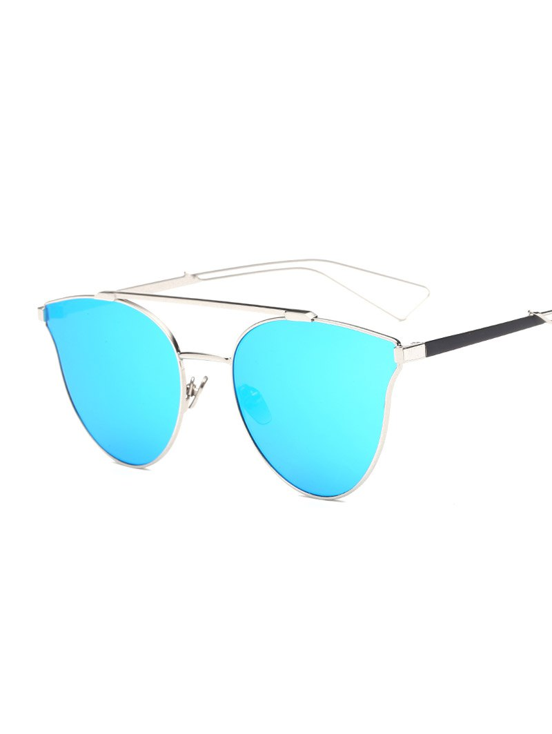 Crossbar Butterfly Mirrored Sunglasses