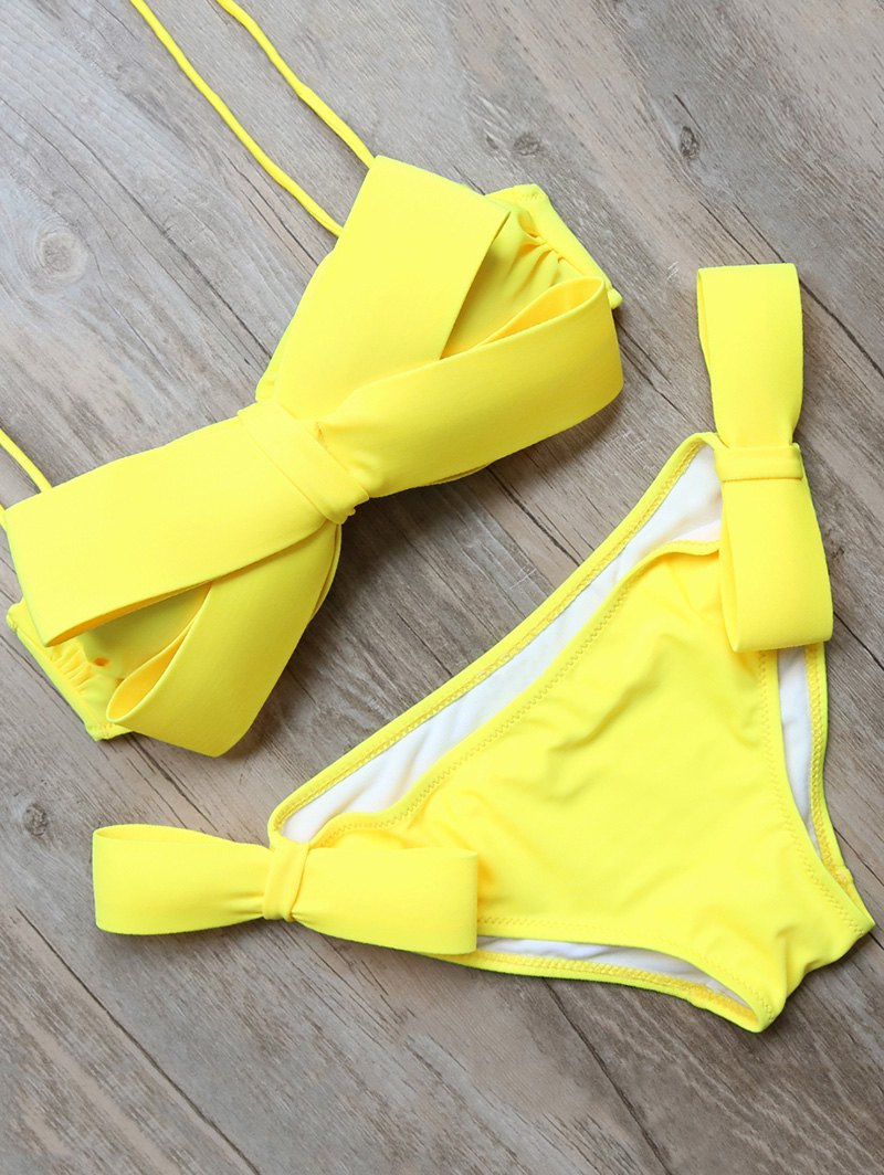 Halter Bowknot Bikini Set