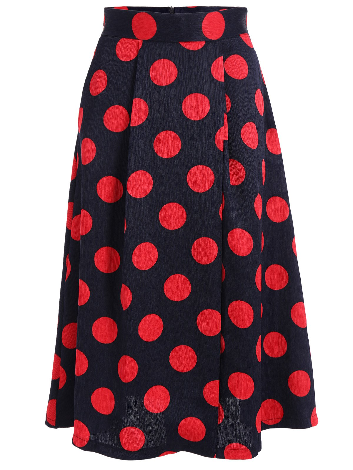 High Waist Polka Dot A Line Skirt