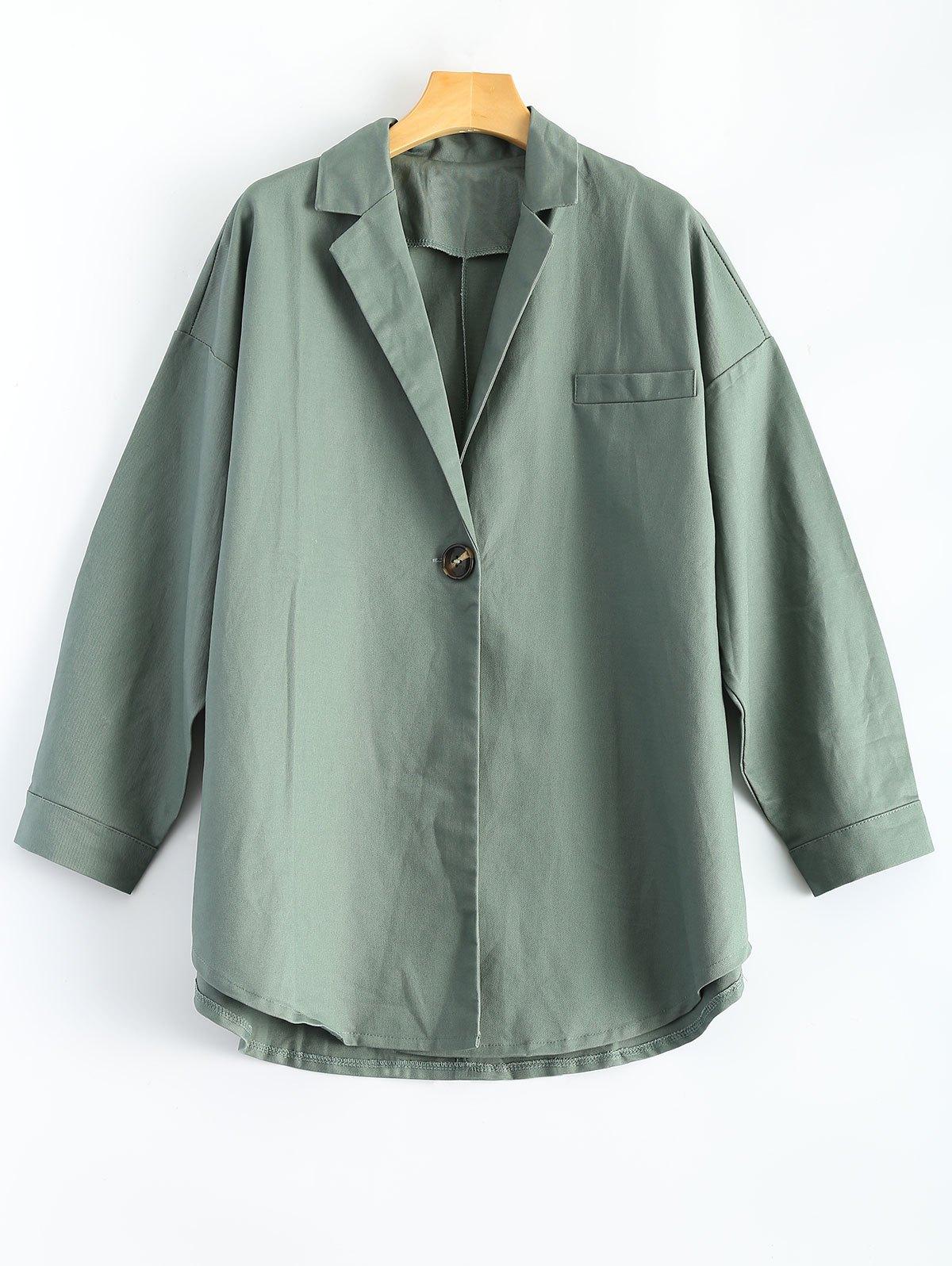 One Button Plus Size Coat