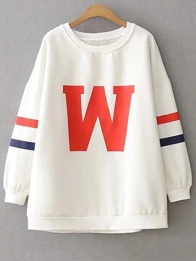 Plus Size Letter Sweatshirt