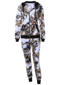 Camo Hooded Sports Suit