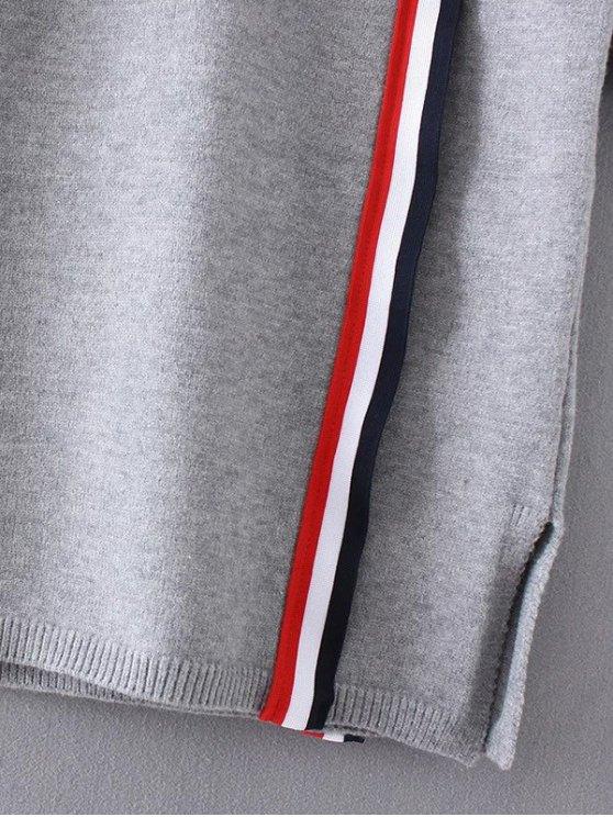 Colorful Stripe Sweater Dress - PURPLISH BLUE ONE SIZE Mobile