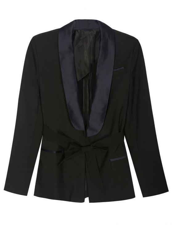 Blazer style pajama avec ceinture - Noir S