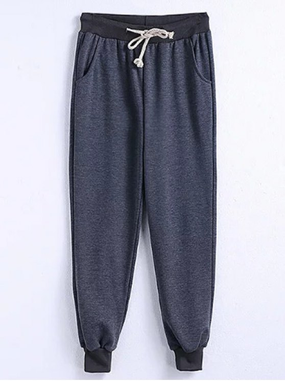 Drawstring Jogger Running Pants - GRAY 2XL Mobile