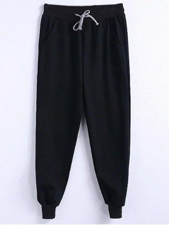 Pantalon Drawstring Jogger - Noir 4XL