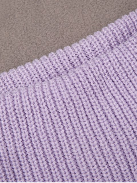 affordable Cowl Neck Sleeveless Sweater - LIGHT PURPLE M Mobile