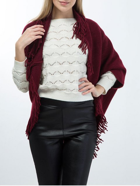 latest Tassel Edge Batwing Pashmina -   Mobile