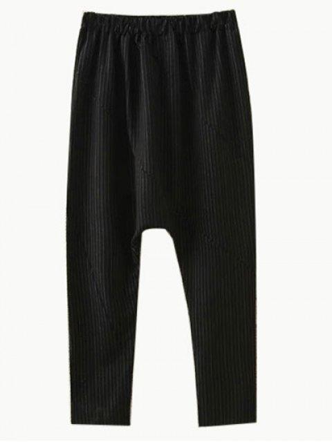 shops Plus Size Striped Sweatshirt and Pants - BLACK XL Mobile