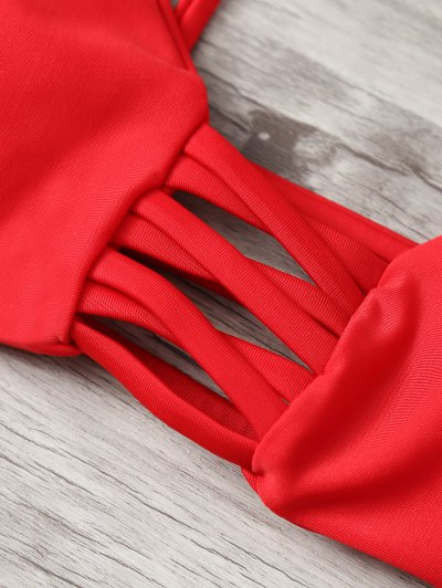 Strappy Snakeskin Print Bikini от Zaful.com INT