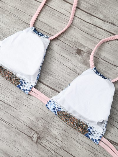 Braided Straps Snakeskin Bikini от Zaful.com INT