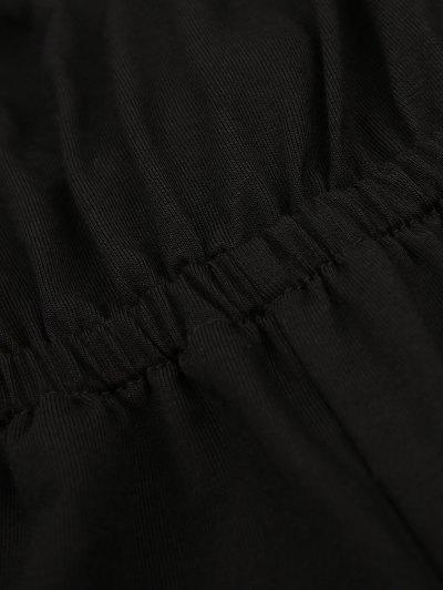 Strappy Back Side Slit Jumpsuit - BLACK L Mobile