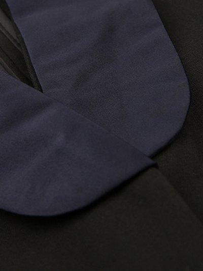 Pajama Style Belted Blazer - BLACK S Mobile