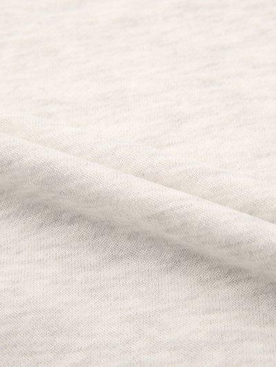 Short Sleeve Graphic Sweatshirt - GRAY S Mobile
