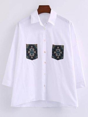 Oversized Shirt With Pockets - White