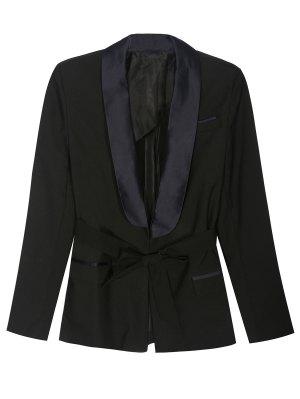 Pajama Style Belted Blazer