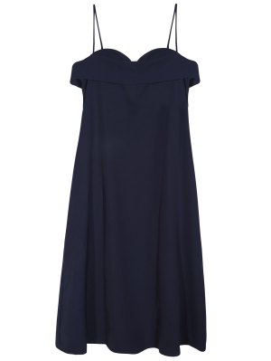 Midi Slip Dress - Deep Blue