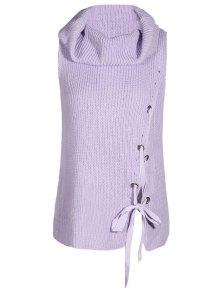 Cowl Neck Sleeveless Sweater