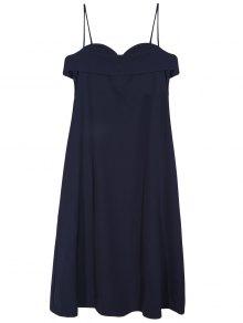 Midi Slip Dress - Deep Blue M