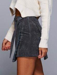 A Line Corduroy Skirt GRAY: Skirts S | ZAFUL