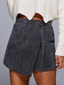 A Line Corduroy Skirt - Gray