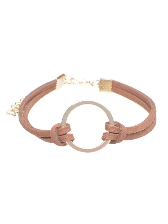 Velvet Ring Bracelet - ANTIQUE BROWN  Mobile
