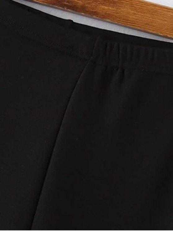 Elastic Waist Gym Pants - DEEP GRAY ONE SIZE Mobile