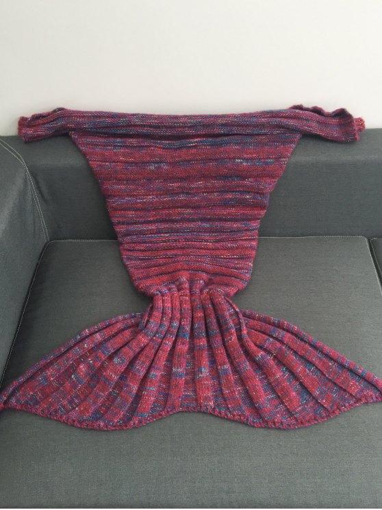 Kintted Kids Wrap Mermaid Tail Blanket -   Mobile