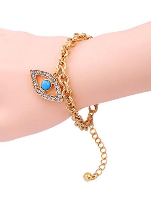 chic Rhinestone Hollow Eye Bracelet - GOLDEN  Mobile