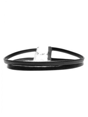 PU Leather Layered Choker - Leather Black