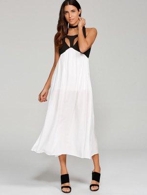 High Slit Cut Out Midi Dress - White