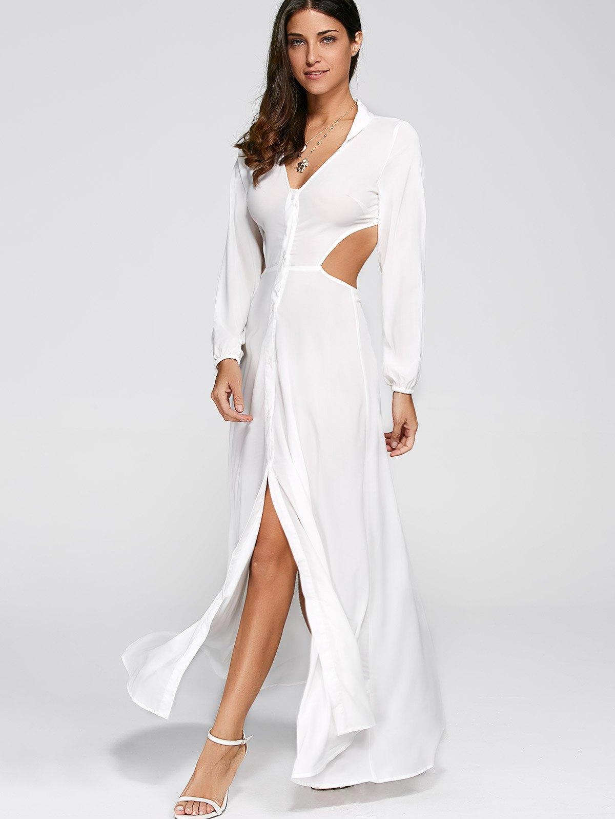 Cut Out High Slit Dress