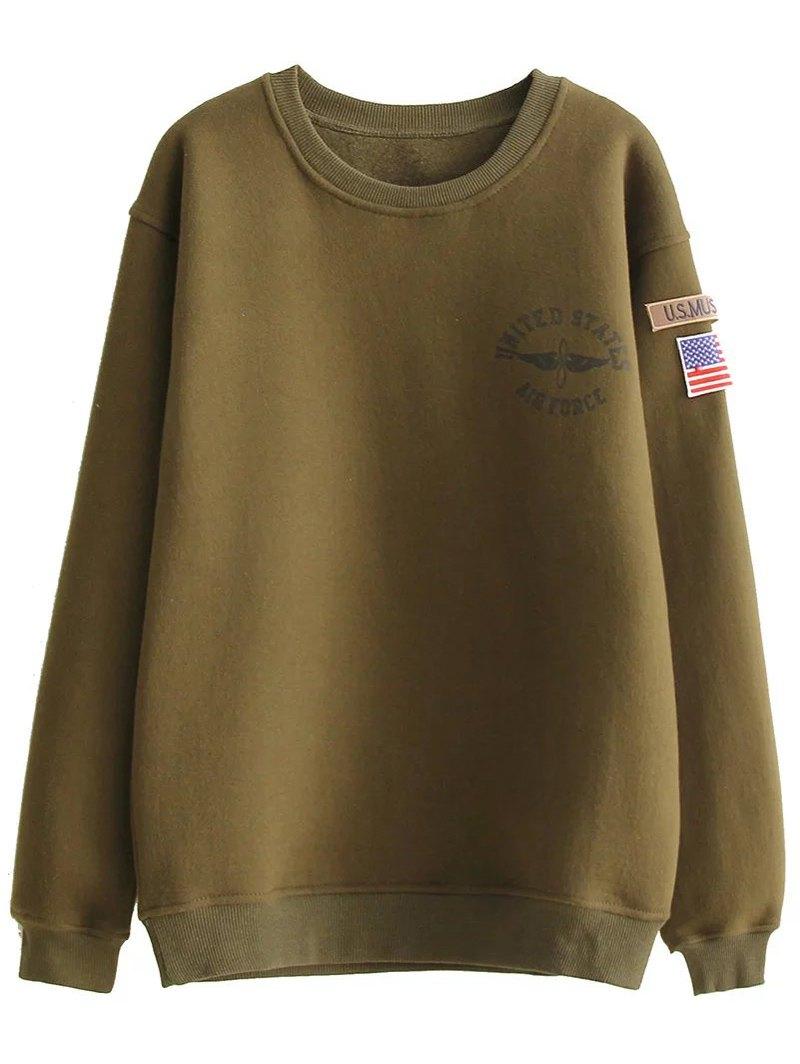 Patch Desigh Thick Sweatshirt