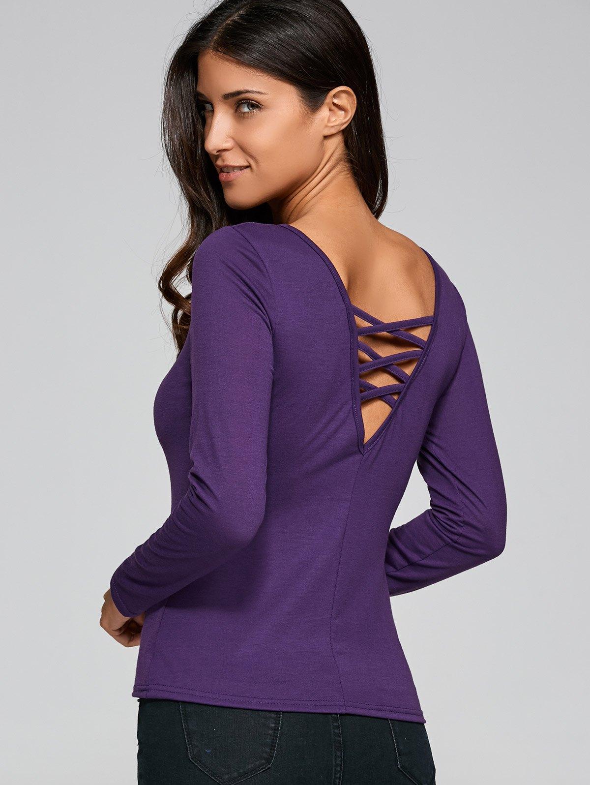 Fitting Cut Out T-Shirt от Zaful.com INT