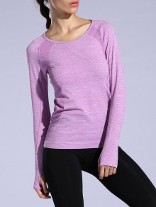 T-shirt Sportif Heathered Dry-rapide - Violet Clair