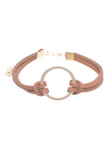 Velvet Ring Bracelet - Antique Brown