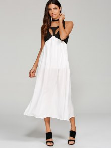High Slit Cut Out Midi Dress