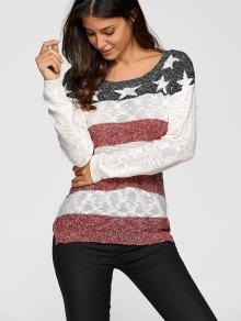 Star Stripe Jacquard Knit Sweater
