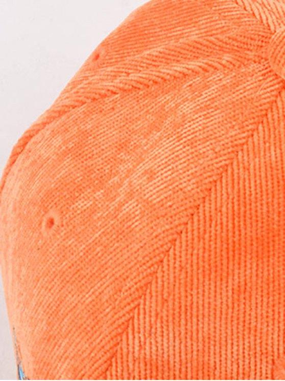 CRIMP Embroidery Corduroy Baseball Hat - SWEET ORANGE  Mobile
