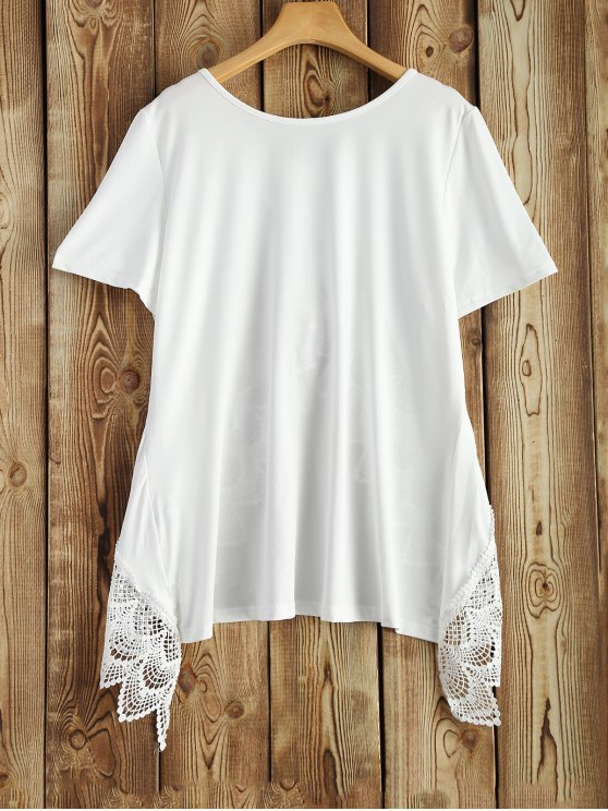 sale Plus Size Short Sleeve Tee - WHITE XL