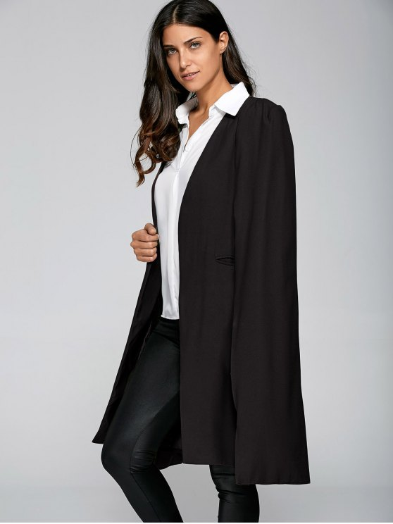 Loose Cape Cloak Overcoat - BLACK L Mobile