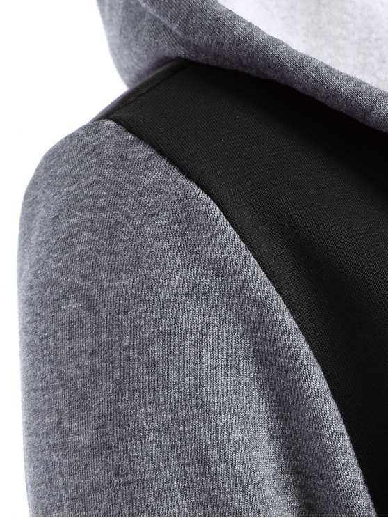 Varsity Baseball Fleece Hoodie Jacket - BLACK S Mobile