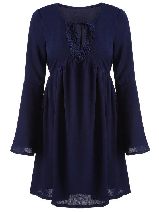 trendy Cut Out A-Line Dress - CADETBLUE S